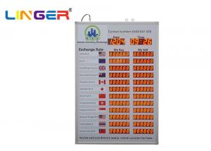China Linger Foreign Exchange Rate Display Board / Led Exchange Currency Sign on sale