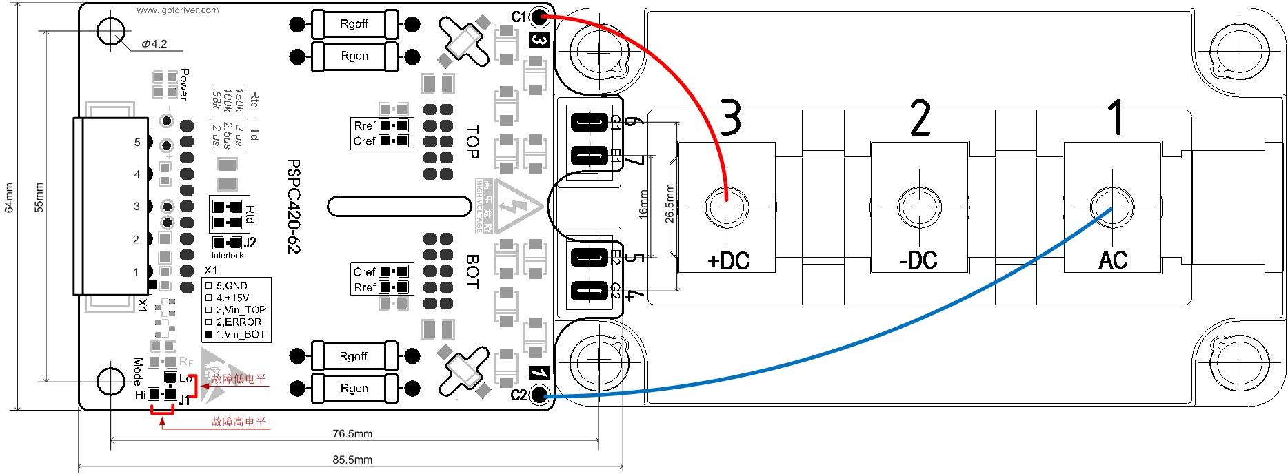 igbt driver board pspc 420
