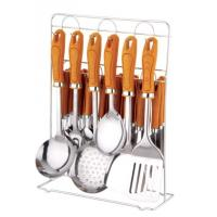 32pcs stainless steel  kitchen tool set & tablewares set&kitchenwares &yellow handle dinnerwares