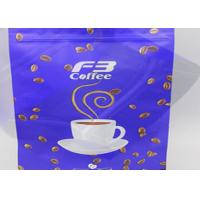 Coffee Packing Resealable Zipper Lock bags Stand Up Flat Bottom Custom Printed