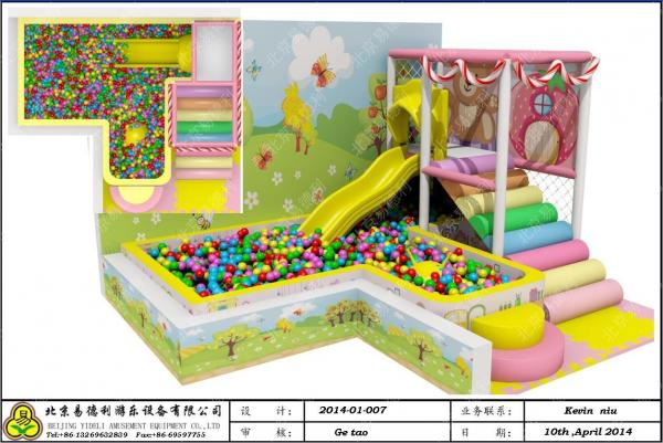 Custom Indoor Play Structures / Child Playground Equipment Playsets ...