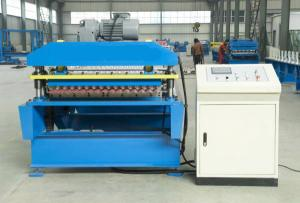 China aluminum corrugated roof making machine on sale