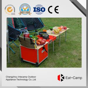 China Multi Function BBQ Outdoor Kitchen Prep Station With Fire Windproof Technology on sale