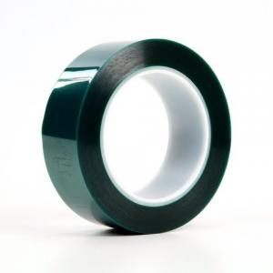 China 220 Degree High Temp Masking Protection Polyester PET Green Tape on sale
