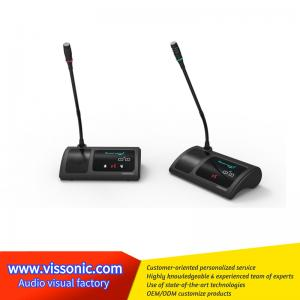 China Digital Gooseneck Wireless Conference Microphone ABS Material Black Color on sale