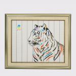 Snag Free Tiger Chinese Zodiac Art , Durable Diy Paintings For Home Decor
