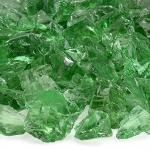Green Broken Glass cullet/  crushed glass for Outdoor Fire Pit