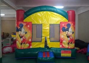 China Digital Printing Mickey Mouse Inflatable Bounce House With Changeable Banner For Kids on sale