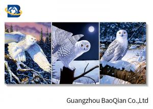 China 3D Wallpaper Lenticular Flip Animal Bird / Horse Picture 4 Colour 3D UV Printing on sale