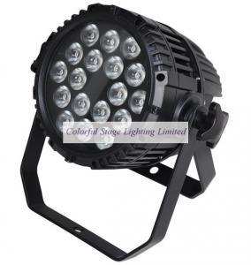 China UL Listed 18x10W Outdoor RGBW Quad color Waterproof LED Par Stage Lighting on sale