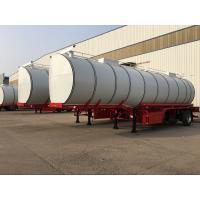 China Carbon Steel 3 Axle Chemical Tanker Truck , 34CBM Asphalt Tanker Trailer on sale