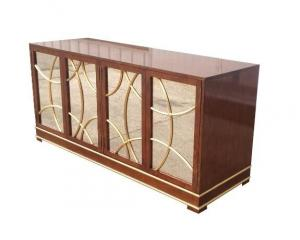 China Antique Hotel Room Dresser 5 Star Hotel MDF Board With Recessed Back Panel on sale
