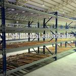 Carton Flow Rack Pallet  Shelving   Green Red Grey Color Available