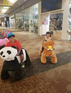 China Hansel 2018 commercial stuffing machine for stuffed animal ride electric panda scooter on sale