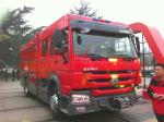 caminhão 290HP da emergência do fogo do vagão da ponte do caminhãodo bombeiro da espuma do ³ do ³ de 6m/8m