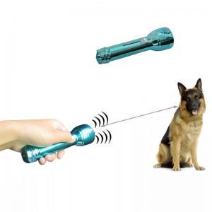 China 130dB Handheld Dog Repellent Bark Control Trainer Flashlight on sale