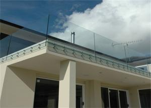 Quality Simple Design Tempered Glass Pool Fence Panels , Glass Handrail Systems For Decks for sale