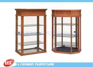 China Full vision Wood Display Cabinets MDF showcase with solid wood veneer / paint finished on sale