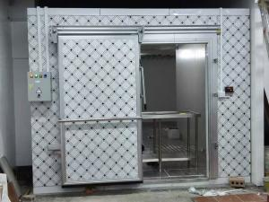 China Walk - in Cold Room Commercial Refrigerator Freezer Double Sided Polyurethane Thermal Insulation Board on sale