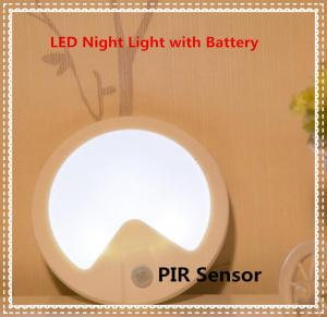 China Human-body Detection and optical sensor LED Night Lamp with Battery on sale