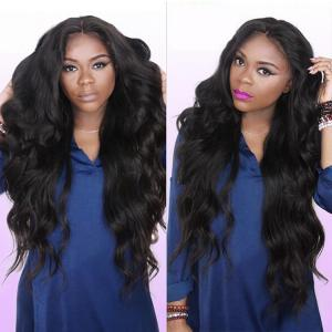 China Black Real Brazilian Hair Weave Lustrous Large Quantity Full Cuticle Aligned on sale