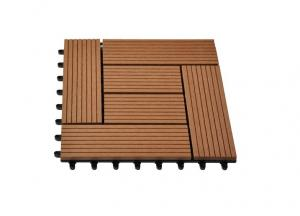 China Red / Brown / Yellow WPC Deck Tiles With Waterproof Wood Feelings Material on sale