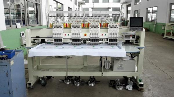 50 / 60Hz Flat Bed / Cap Embroidery Machine , 3d Embroidery