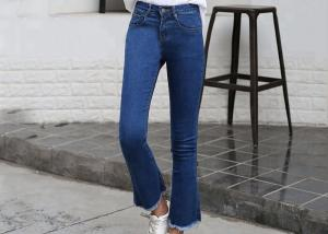China Fashion Style Elasticity Womens Flare Jeans Skinny Anti Static / Pilling on sale