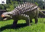 Life Size Animatronic Dinosaur Realistic Resin Waterproof Ankylosaurus Display