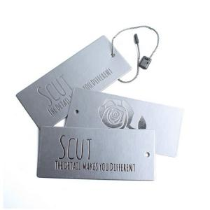 China Double Printed Plastic Custom Printed Paper Tags / Hang Tags For Clothing / Luggage on sale