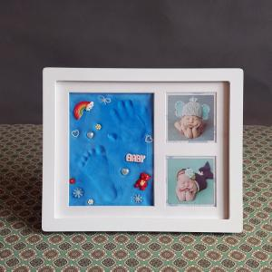 China Ornament Keepsake Picture Frame 28X23CM Handprint and Footprint Frame Kit on sale