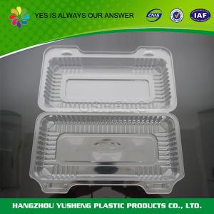 China BOPS / PS Disposable Plastic Containers Fruit / bakery Clear on sale