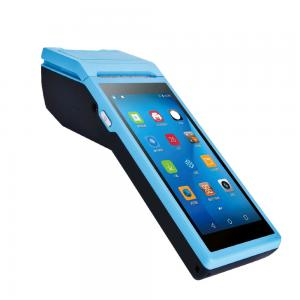 China Android 6.0 Handheld POS Terminal 5000mAh Huge Battery For Restaurants Food Ordering on sale