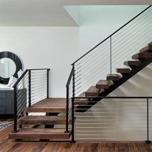 Prefab Open Internal Single Stringer Staircase with Stainless Steel
