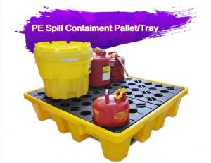 China Two Drum Spill Decks Containment Pallets Heavy Duty For Oils / Chemicals on sale