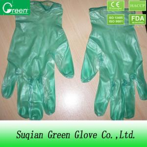 China Small powdered Disposable PVC Gloves , vinyl examination gloves on sale