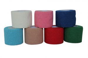 China No Scissors Needed Cotton Elastic Bandage Wrap , Elastic Adhesive Bandage on sale