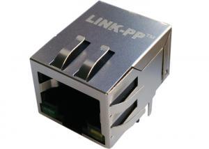China LPJG0820GENL 1000Base-T Magnetic 10Pins RJ45 Jack Shield W/LED Gigabit on sale