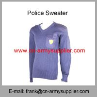 China Wholesale Cheap China Army Navy Blue Wool Military Police Sweater on sale