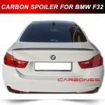 F32 P Style Trunk Spoiler For 2014-2015 BMW 4 Series Carbon Fiber