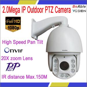 China A+ High speed pan tilt IP PTZ digital camera Cam/webcam with 20X zoom lens,support p2p and onvif protocol IR MAX 150M on sale