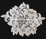Cuello Colorfast del cordón del ganchillo del vestido de boda de la flor con Eco - teñido amistoso
