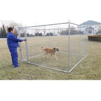 China 6feet x 10feet x 10feet dog kennel chain link fabric dog fencing panels with optional covered roof cloth on sale