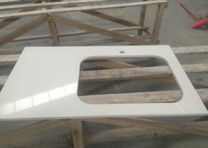 China 研がれる流しの形の容易さの設計された人工的な石造りの平板のカウンタートップ on sale
