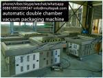automatic double chamber vacuum packaging machine for seafood meat  fruit Chinese factory 008618932209347 mu'l'te'pak