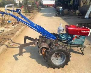 China Two Wheel Walking Tractor Cable Pulling Machine For Cable Pulling Wire Rope Pulling Hand Tractor on sale