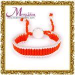 O vermelho elegante personalizado liga a joia dos braceletes da amizade para as mulheres LS002