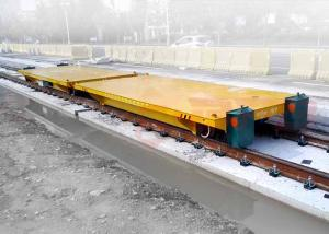 China Production line apply battery powered delivery electric flat car on rail on sale