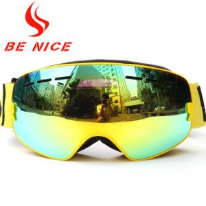 China Helmet Compatible Kids Ski Goggles Premium Nylon Strap , Scratches Resistance on sale