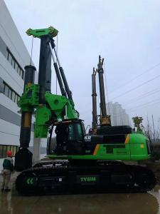China Piling equipment hire Green Color Compact Pile Driver Machine , Mini Piling Rig Diameter 2500mm on sale